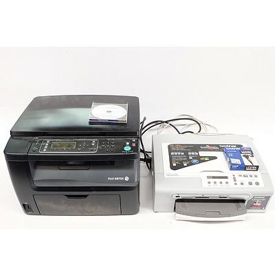 Two Colour Printers: Fuji Xerox Docuprint CM115w, Brother DCP-150c Printer