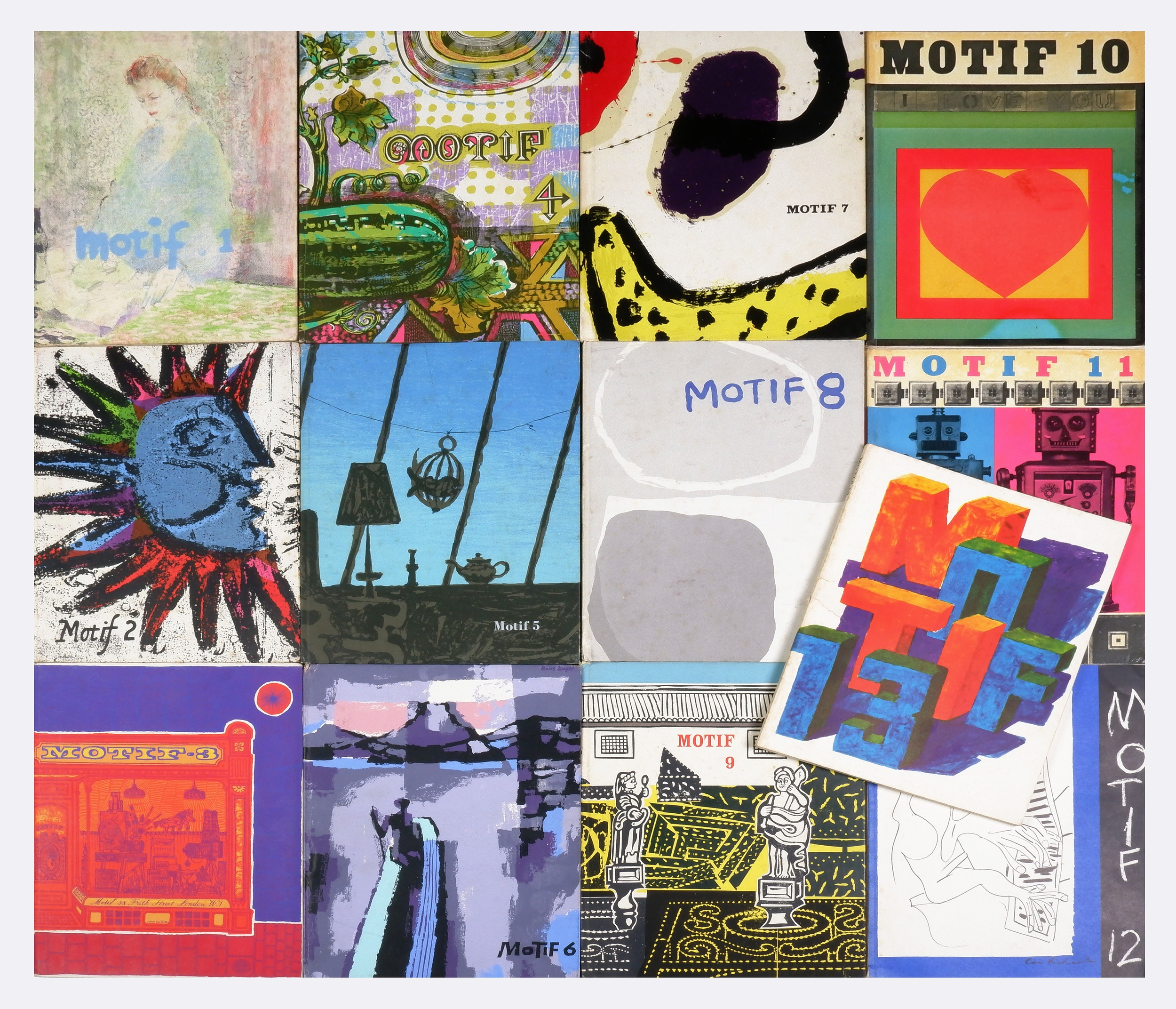 'Complete Set of Motif Magazines, 13 Issues, The Shenval Press, London. Published 1958 - 1967'