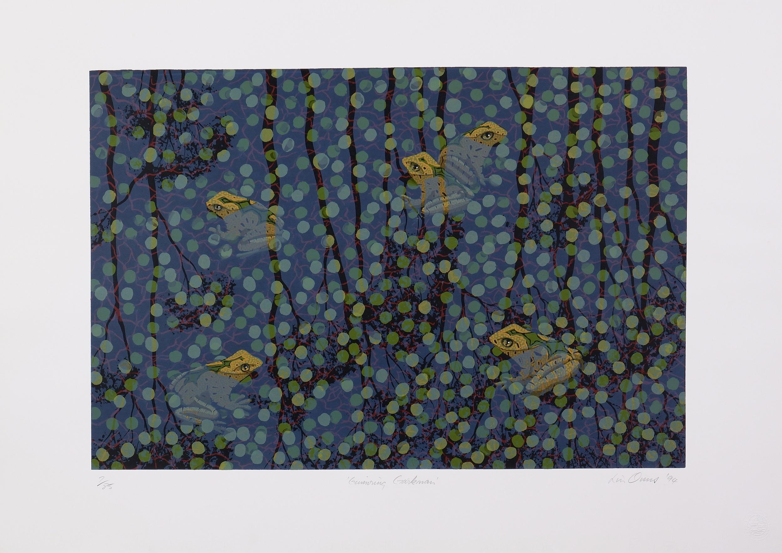 'Lin Onus (1948-1996 Yorta Yorta language group), Gumiring Garkman 1994, Screenprint, 50 x 70 cm (image size) '