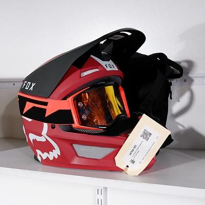 Fox Scott VI Mata Helmet with Carry Bag