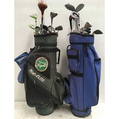 Assorted Golf Clubs And Golf Bags - Lot of 40