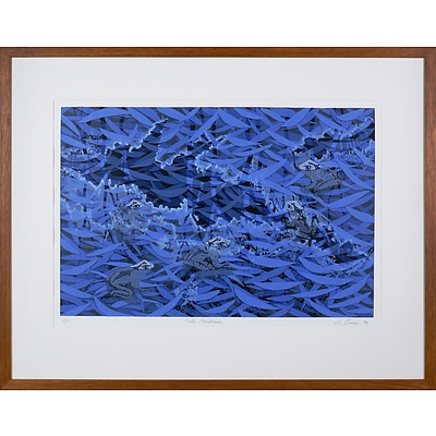 Lin Onus (1948-1996 Yorta Yorta language group), Pitoa Garkman 1994, Screenprint A/P, 50 x 70 cm