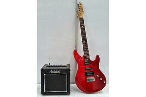 Ashton Electric Guitar And AMP