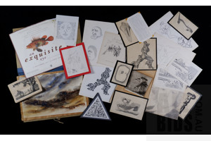 A Quantity of Unframed Prints & Sketches, Various Sizes