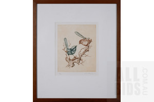 Paul Montgomery, Wrens, Etching, 24 x 20 cm (image size)