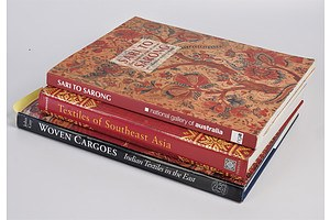 Three Large Volume Reference Books - Indian and South East Asian Textiles
