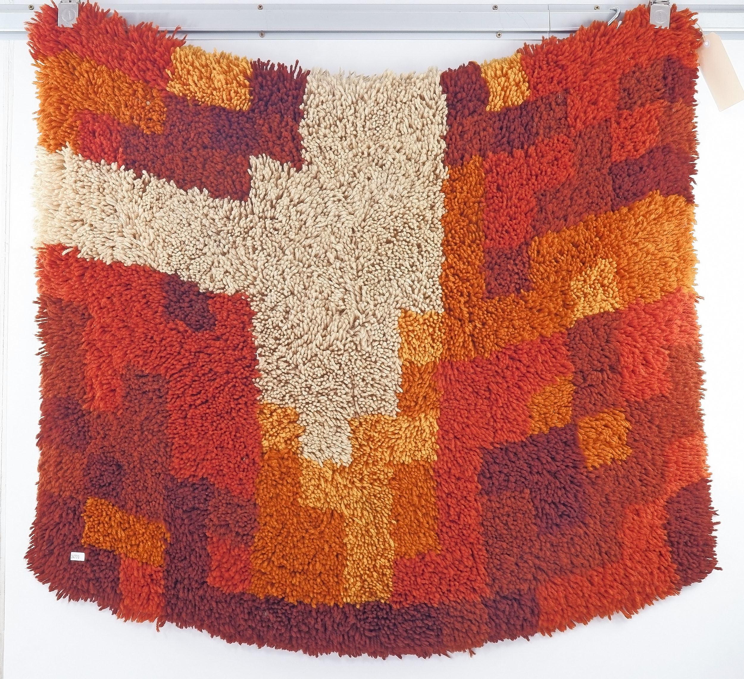 'Retro Shag Pile Rug, Circa 1970s'