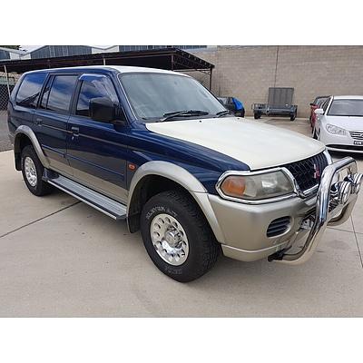 12/2000 Mitsubishi Challenger (4x4) PA 4d Wagon Blue/Beige 3.0L