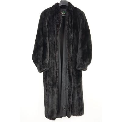 Vintage David Green of Anchorage USA Black Full Length Ladies Mink Fur Coat