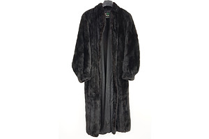 Vintage David Green of Anchorage USA Black Full Length Ladies Mink Fur Coat