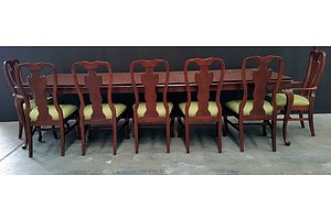 Drexel Heritage Furniture Ten Piece Dining Setting