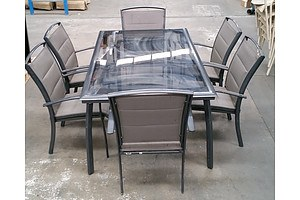 7 Piece Glass Top Dining Setting