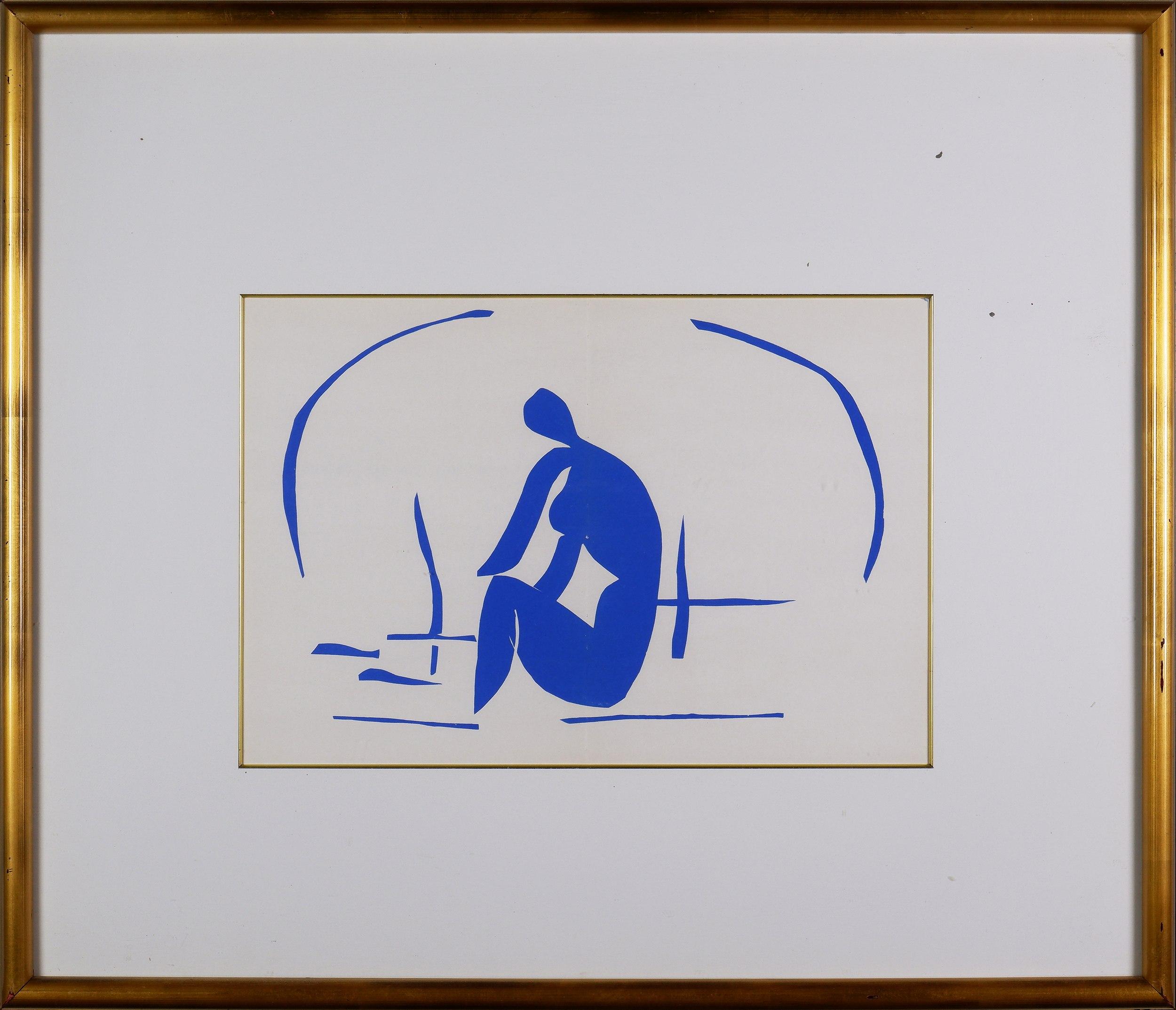 'Henri Matisse (1869-1954, French), Baigneuse dans les Roseaux 1958, Lithograph'