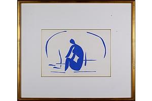 Henri Matisse (1869-1954, French), Baigneuse dans les Roseaux 1958, Lithograph