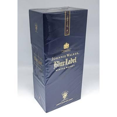 Johnnie Walker Blue Label Scotch Whiskey - One Litre Sealed in Presentation Box