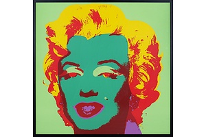 After Andy Warhol (1928-1987, American), Marilyn, Mixed Media on Paper on Board