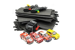 Large Slot Car Set, Including Four Scalextric Rally Cars