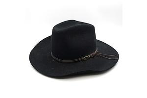 Australian Statesman Wetherby Dark Fur Felt Hat, Size 61