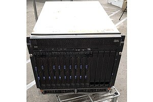 IBM BladeCentre H 14-Bay Blade Server Chassis w/ 10 x IBM HS21 Blade Servers