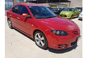 4/2005 Mazda Mazda3 SP23 BK 4d Sedan Red 2.3L