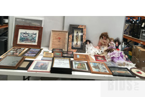Lot Of Mixed Photo Frames And Dolls