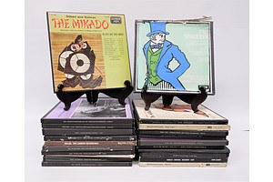 Quantity of Approximately 20 Box Sets Vinyl LP Records Including Gilbert and Sullivan the Mikado, The Sorcerer and Shakespeares King Lear and More