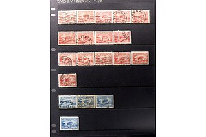One Sheet of Australian Harbour Bridge 2d and 3d Stamps