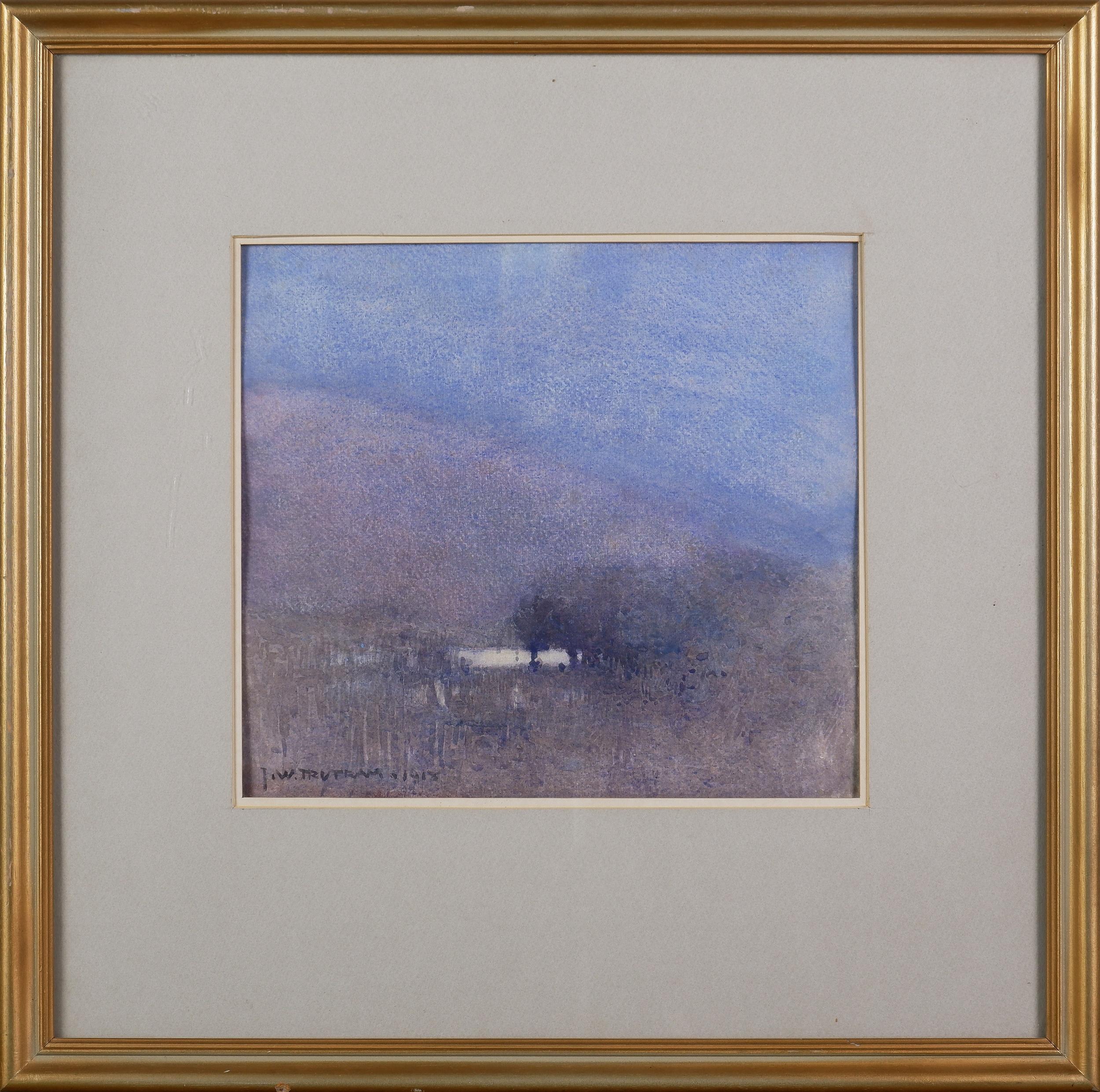'J. W. Tristram (1872-1938), Untitled (Landscape with Waterhole) 1918, Watercolour on Paper'