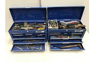 Motor Tool Box With Contents -Lot Of Two