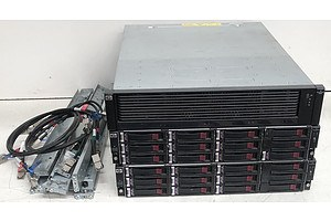 HP StorageWorks P6300 SAN Array w/ 2 x HP StorageWorks 12-Bay SAS Arrays