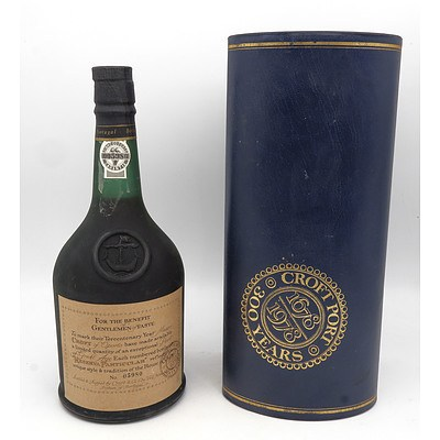Croft Port Bottle No 005980 750ml in Presentation Case with Certificate