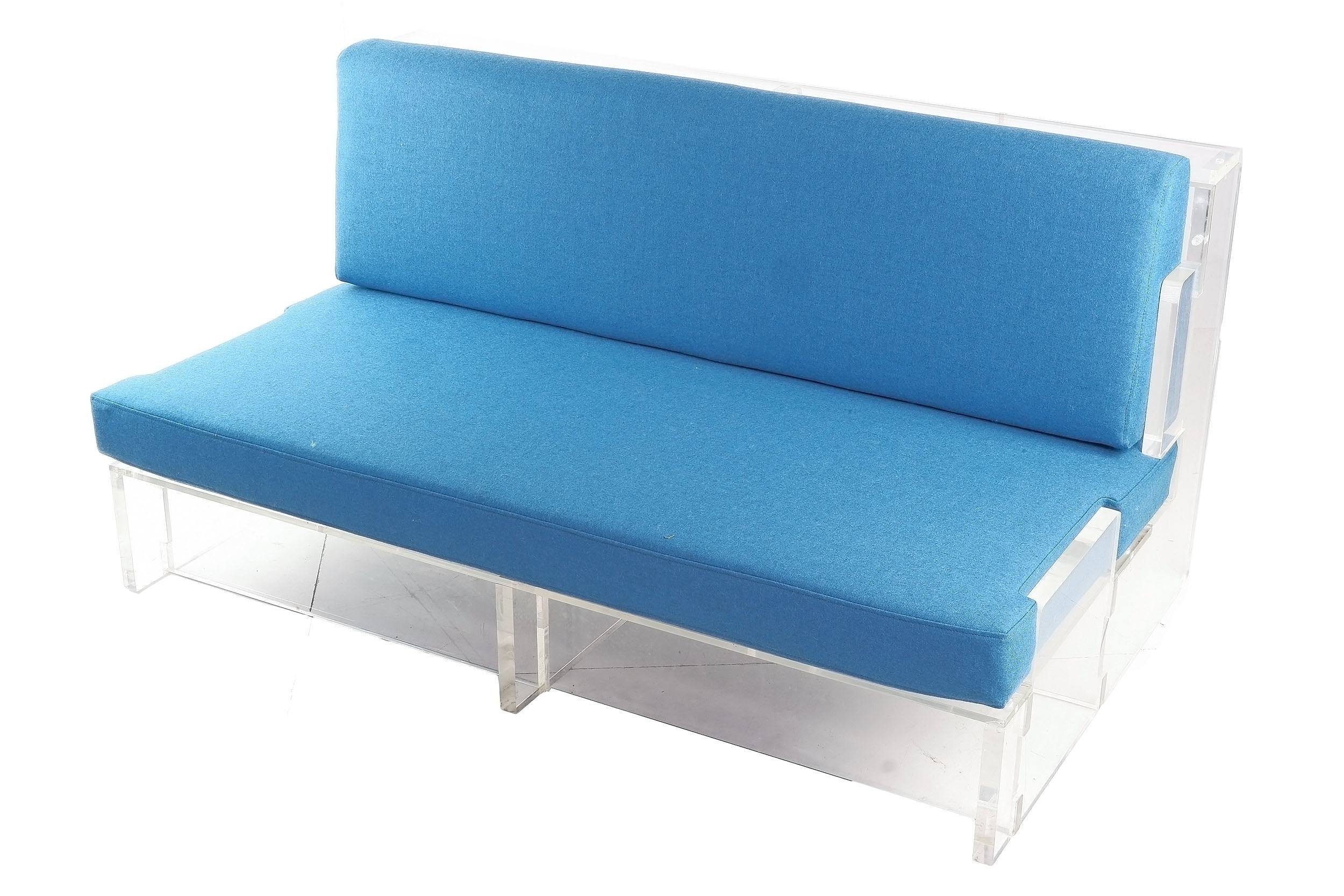 'Brutalist Acrylic Two Seater Lounge, Circa 1970s'