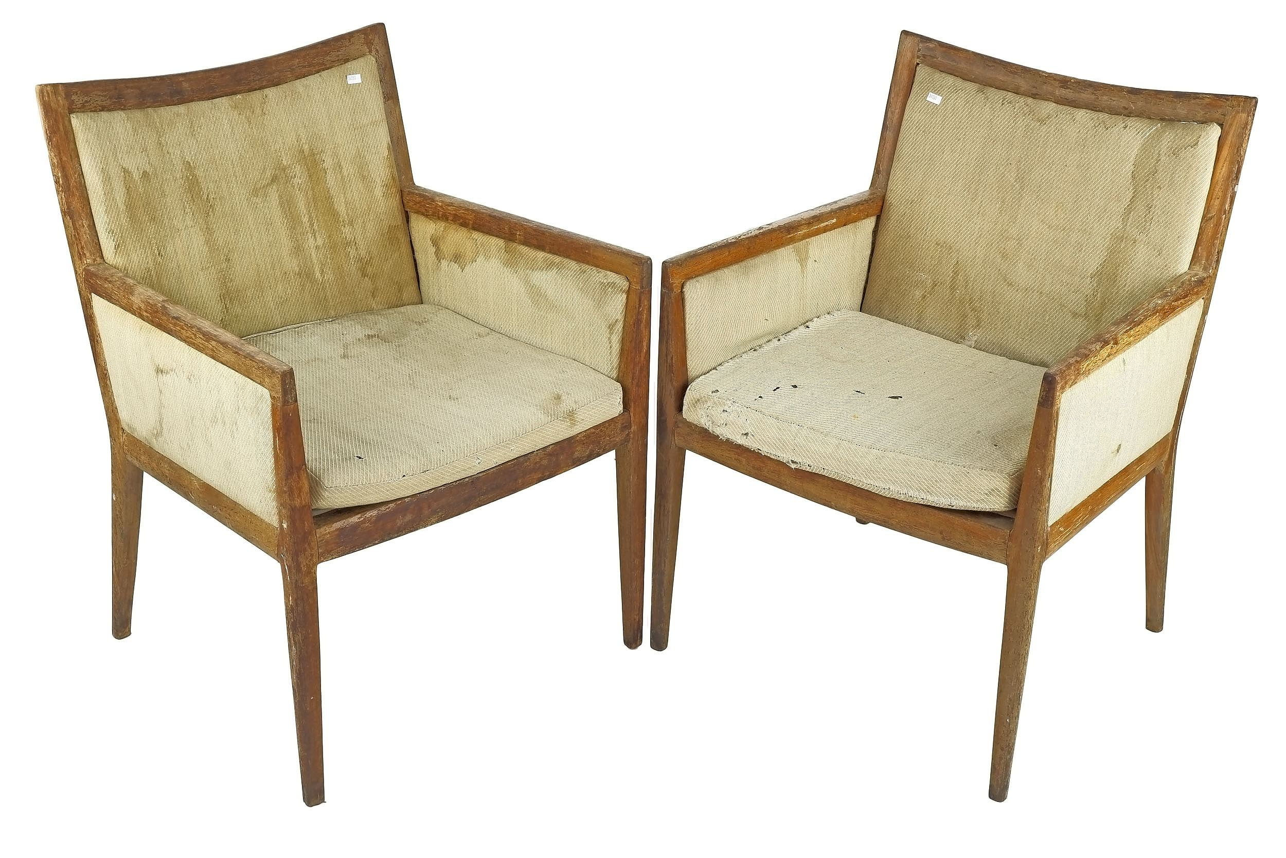 'Pair of Fred Ward Blackbean Armchairs, Designed for the Reserve Bank'