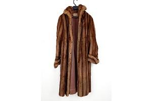 Vintage B. M. Bennet England Full Length Fur Coat