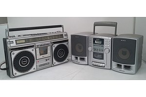 2  Portable Radio Cassette/CD Systems