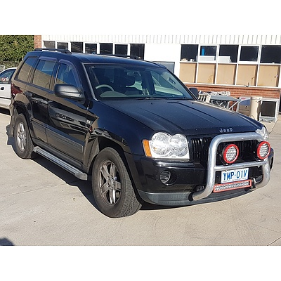 6/2005 Jeep Grand Cherokee Laredo (4x4) WH 4d Wagon Black 4.7L