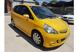 7/2006 Honda Jazz Vti-s MY06 5d Hatchback Yellow 1.5L