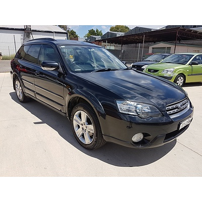 6/2005 Subaru Outback 3.0R MY05 4d Wagon Black 3.0L