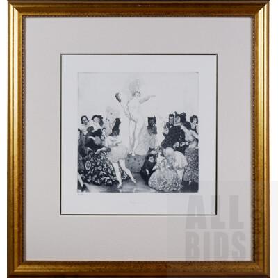 Norman Lindsay (1879-1969), Fortune's Fools, Facsimilie Etching, 25 x 25 cm (image size)