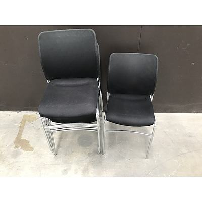 Black Office Chairs -Lot Of Six