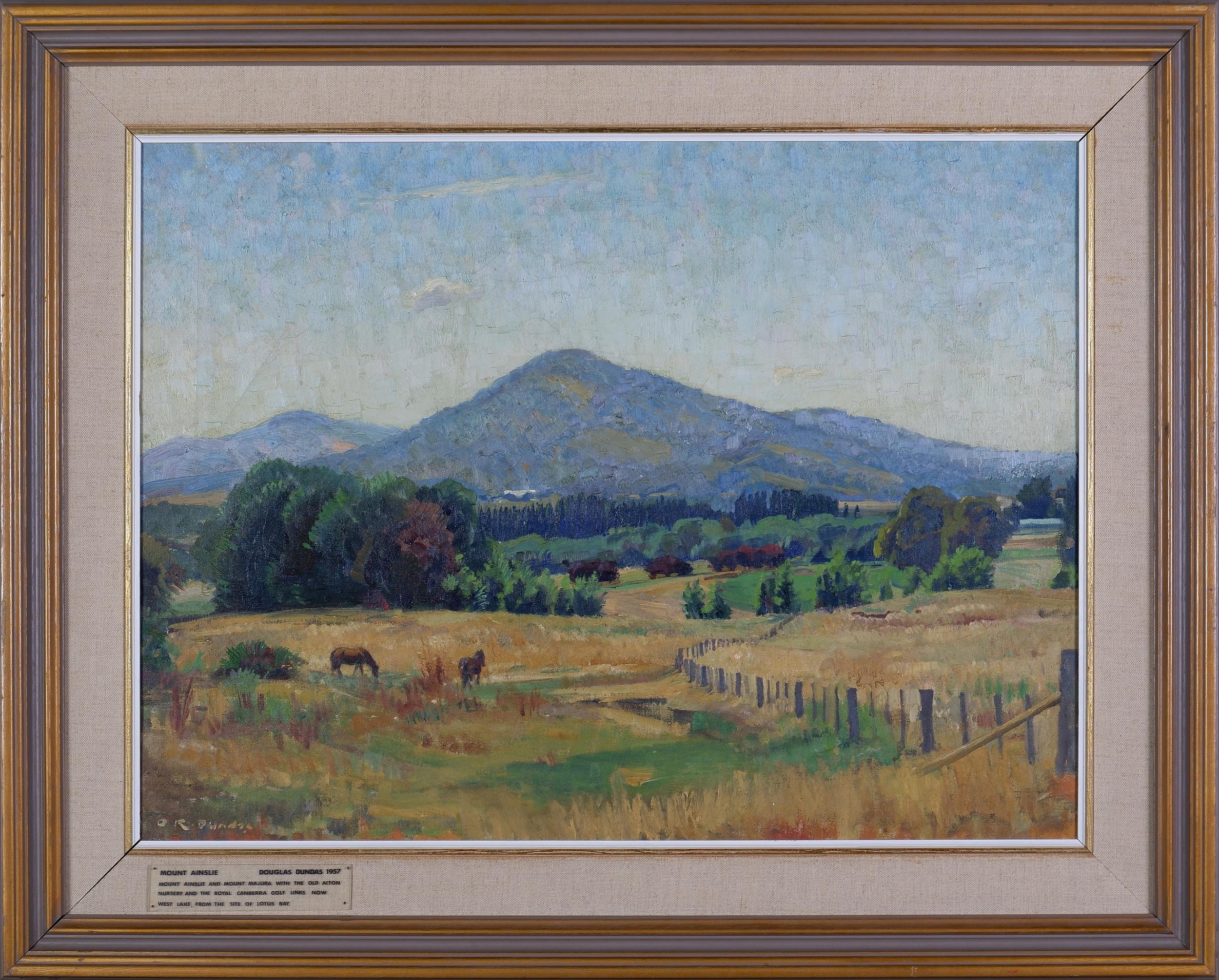 'Douglas Dundas (1900-1981), Mount Ainslie 1957, Oil on Canvas'