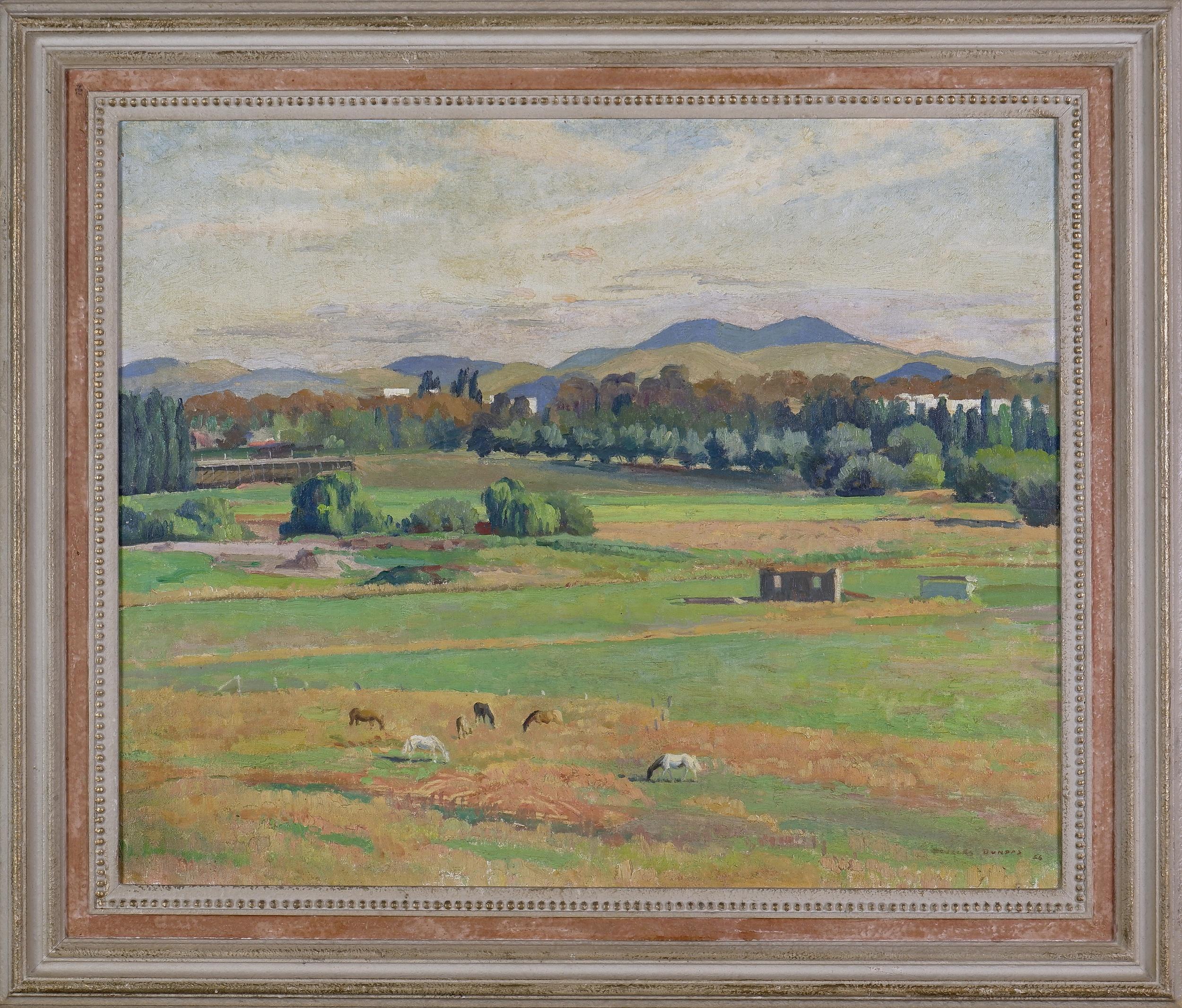 'Douglas Dundas (1900-1981), Untitled (Canberra Landscape) 1956, Oil on Canvas'