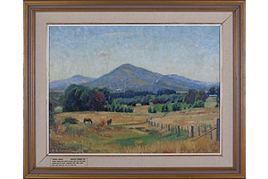 Douglas Dundas (1900-1981), Mount Ainslie 1957, Oil on Canvas