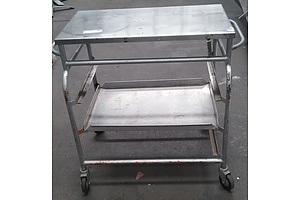 Stainless Steel Trolley on Wheels