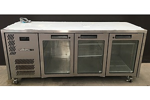 Williams Stainless Horizontal Fridge with Glass Display Doors