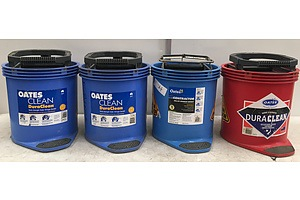 Commercial Mop Buckets- Lot Of 4