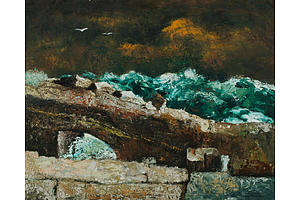 Sali HERMAN (1898-1993), Stormy Seas, 1964, Oil on Canvas