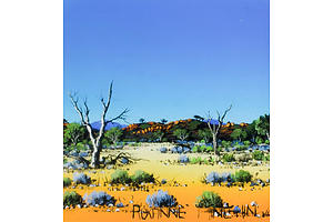 Roxanne MINCHIN (b.1956) Desert Landscape, Oil on Canvas Board