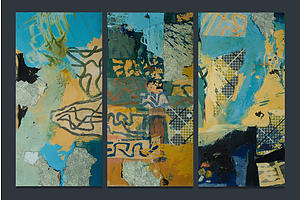 Malcolm BENHAM (New Zealand b.1949) (3), Monaro Panels - numbers 1, 3 and 10, 2000, Mixed Media on Board (3)