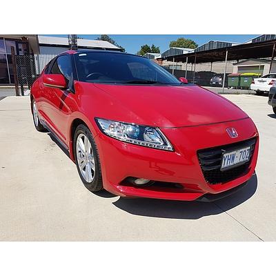 4/2012 Honda Cr-z Luxury Hybrid  2d Coupe Red 1.5L